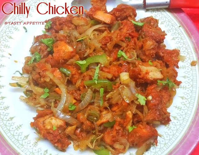 Tasty Appetite Chilli Chicken Dry Indian Style Recipe
