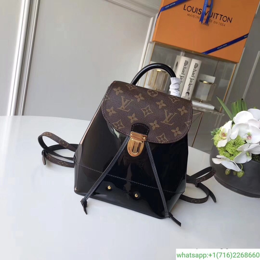 28132b9a08b0 Louis Vuitton Hot Springs Backpack Patent Leather Handbags M53545  145