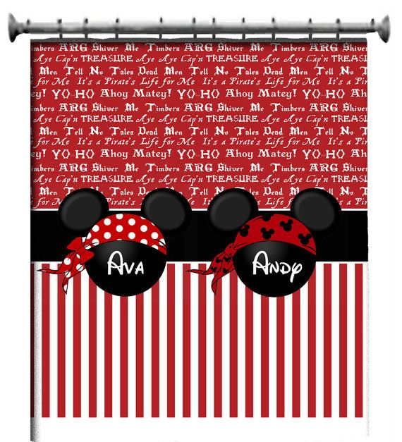 Custom Pirate Mickey Shower Curtain Inspiration For Mobella Events Event Planner Orlando Mobellaevents