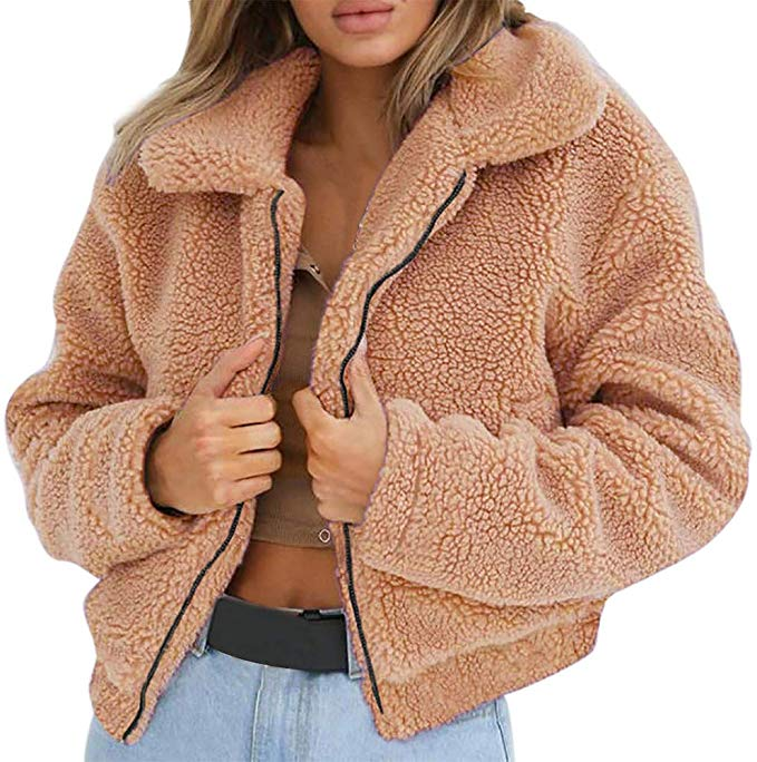 Women Faux Fur Jacket Coat Outwear Lady Winter Thick Party Fluffy Tops Plus Size