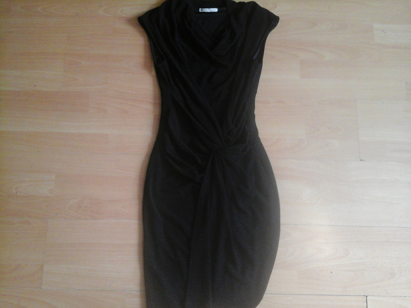 Womenus maille de moiselle black sparkly wiggle dress size