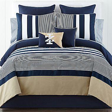 Izod Classic Stripe Comforter Set And Accessories Comforter Sets Bedding Sets Bed