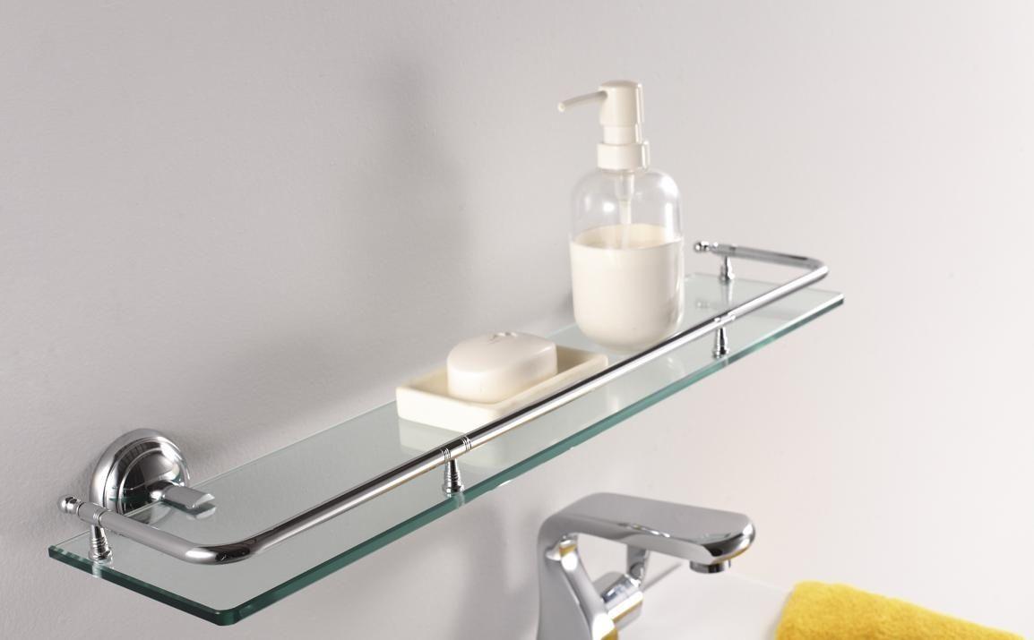 Glass shelf for bathroom wall gagnant pinterest