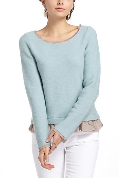 Ruffled Duster Sweater #anthropologie
