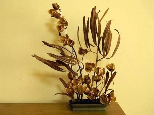Dried Flower Arrangements Centerpieces Dry Decoration Wood Roses With Some Centerpiece Ideas