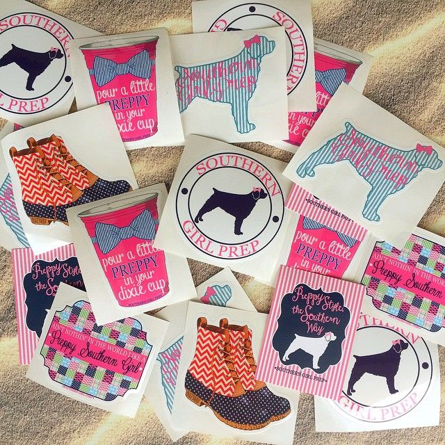 Southern Girl Prep Stickers Perfectly Preppy Preppy Stickers