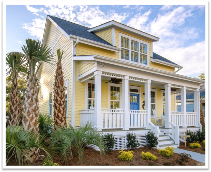 Tiny Beach Home Designs: The Waterside. The Cottages At Ocean Isle Beach, NC