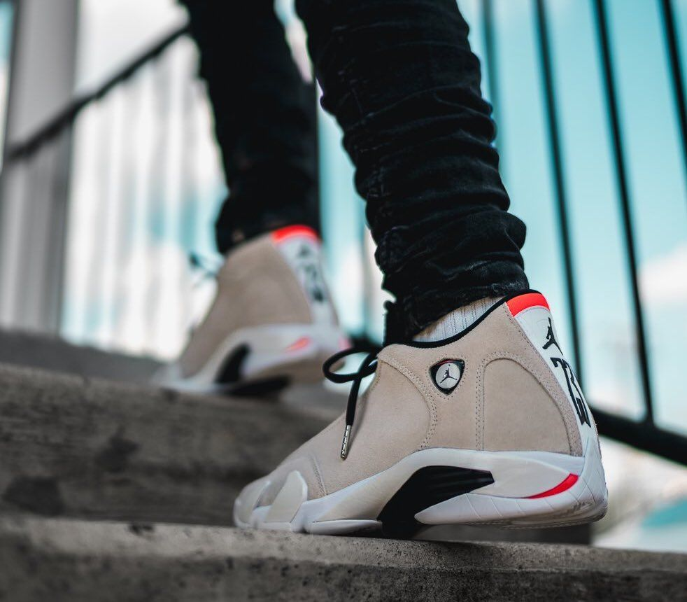 "best service 3c154 19b34 Air Jordan 14 ""Desert Sand"" Release Date  May 15th, 2018  190 Style Code   487471-021   bit.ly lovesneakernews"
