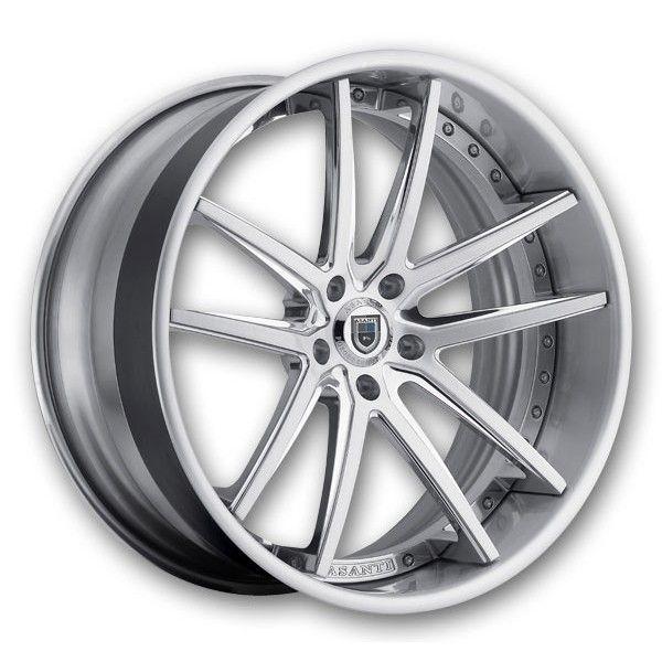 Asanti Wheels Cx 507 24 Chrome White Low Offset Concave Cx507 5