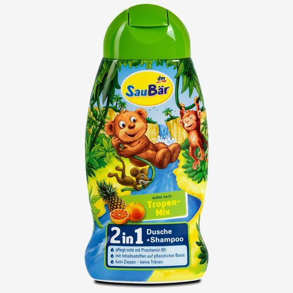 Saubar 2in1 Dusche Shampoo Tropen Mix Bad Dish Soap Bottle Dish Soap Soap Bottle