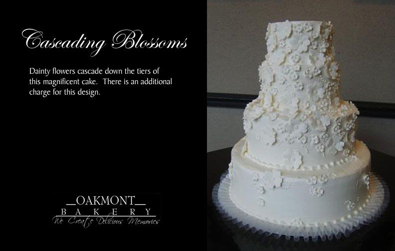 The Cascading Blossoms Wedding Cake From Oakmont Bakery Near Pittsburgh