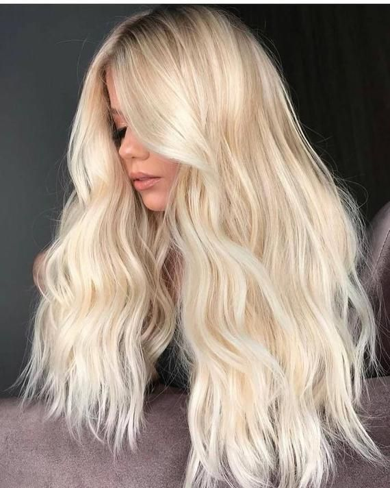 Blonde Lace Front Wig Blonde Shadow Root Human Hair Wig Long Blonde Ombre Wig In 2020 Bright Blonde Hair Blonde Hair Pale Skin Blonde Hair Shades