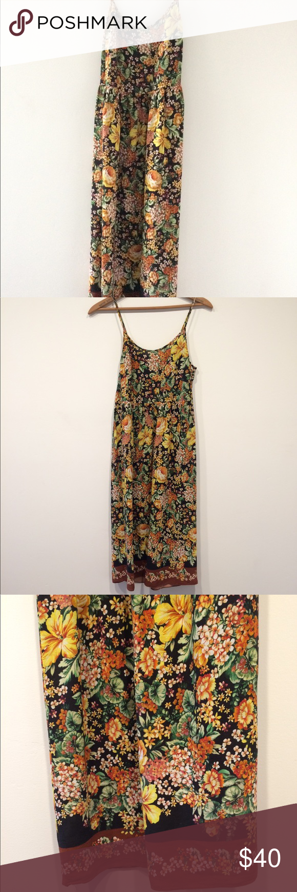 a9121dd5ca6 Zara Floral Maxi Dress In excellent condition! Worn only a few times. Very  beautiful and vibrant floral print. XS but can fit a couples size up  comfortably ...