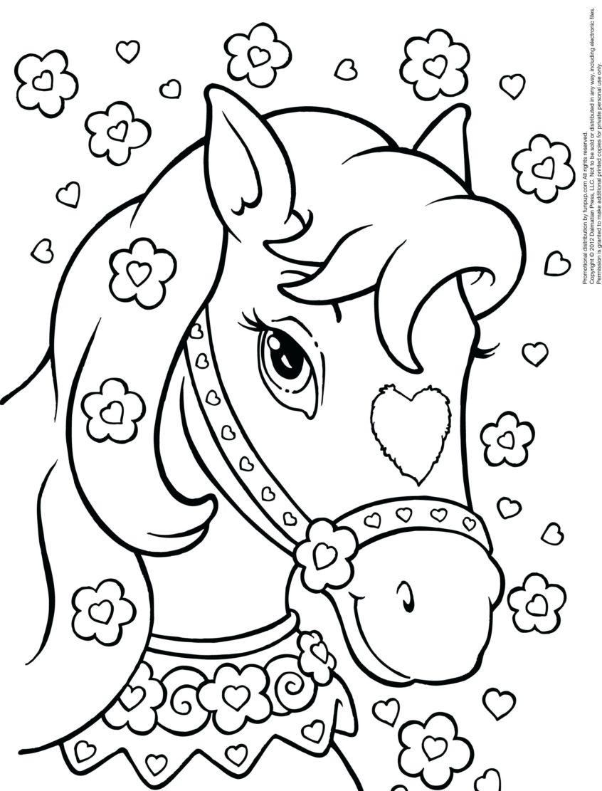 Free Printable Horse Coloring Pages For Kids | 1111x846