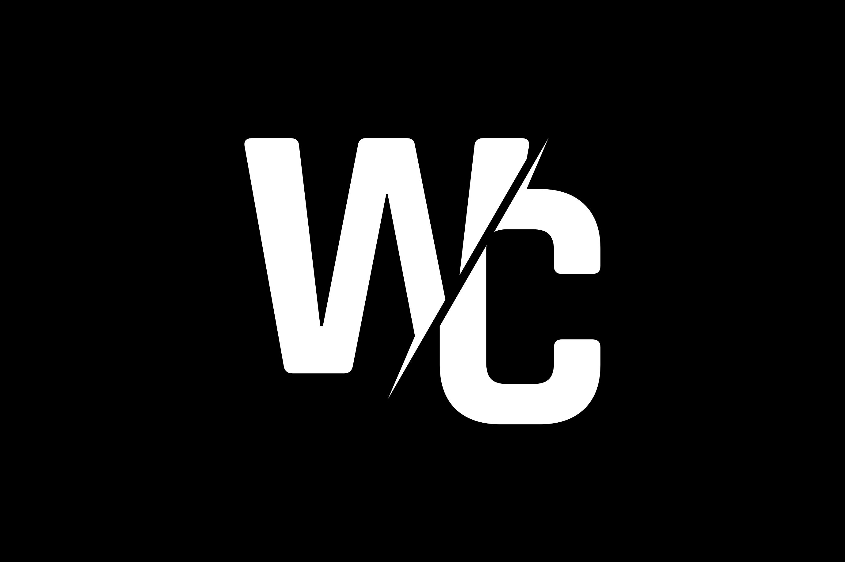Monogram Wc Logo Design Graphic By Greenlines Studios Creative Fabrica Fabrica Catrinas Tatuajes