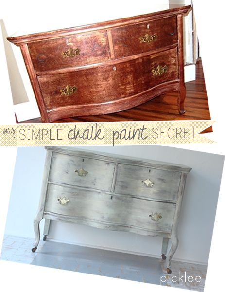 The EASIEST chalk paint secret ever! #chalkpainttips ...