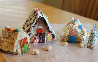 Toddler Approved!: Creative Christmas Countdown: Rice Crispy Snow Village