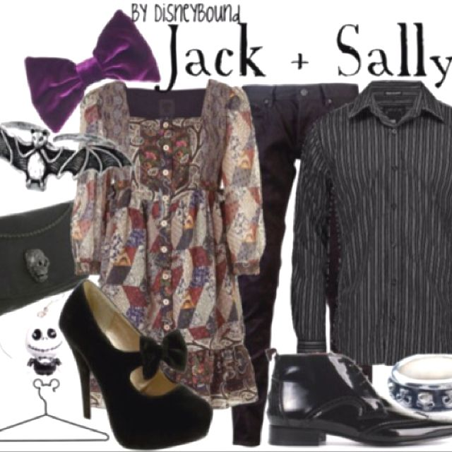 The nightmare before Christmas wedding theme, use these outfits for