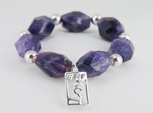 Pulsera de platas y amatistas ( Silver and amethyst bracelet)