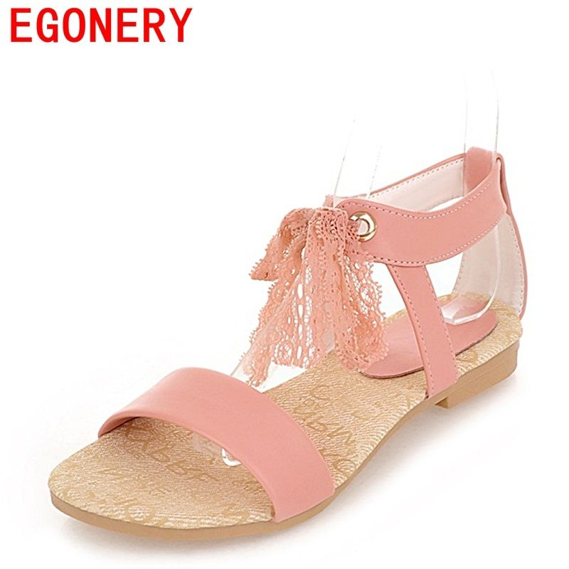 3d5c747d2f egonery low heel sandals woman new style shoes laced up shoes ladies open  toe casual shoes