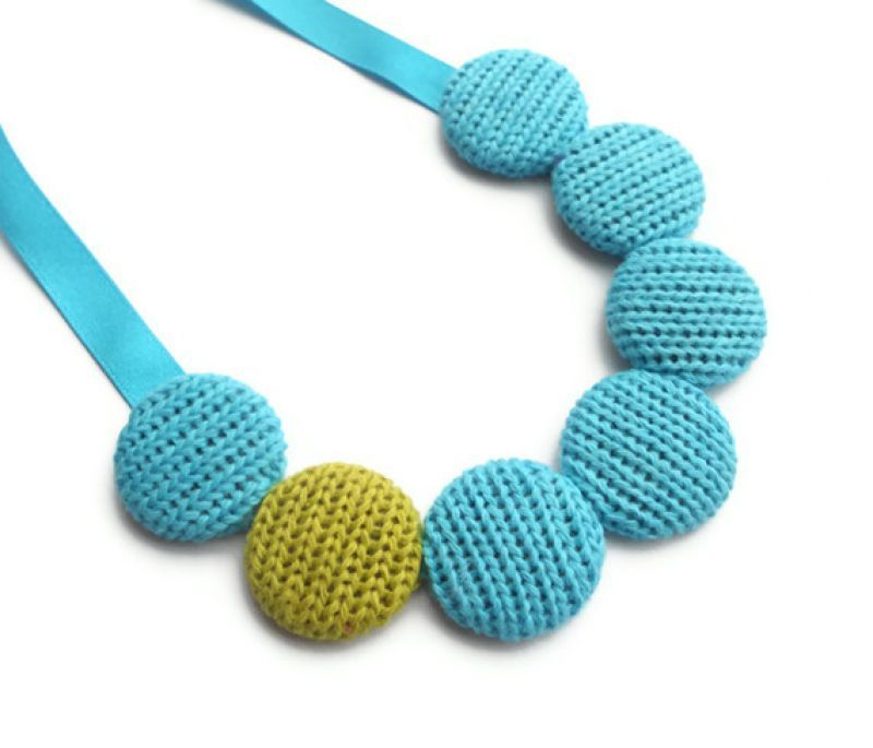 Small #Knitted Cotton #Necklace