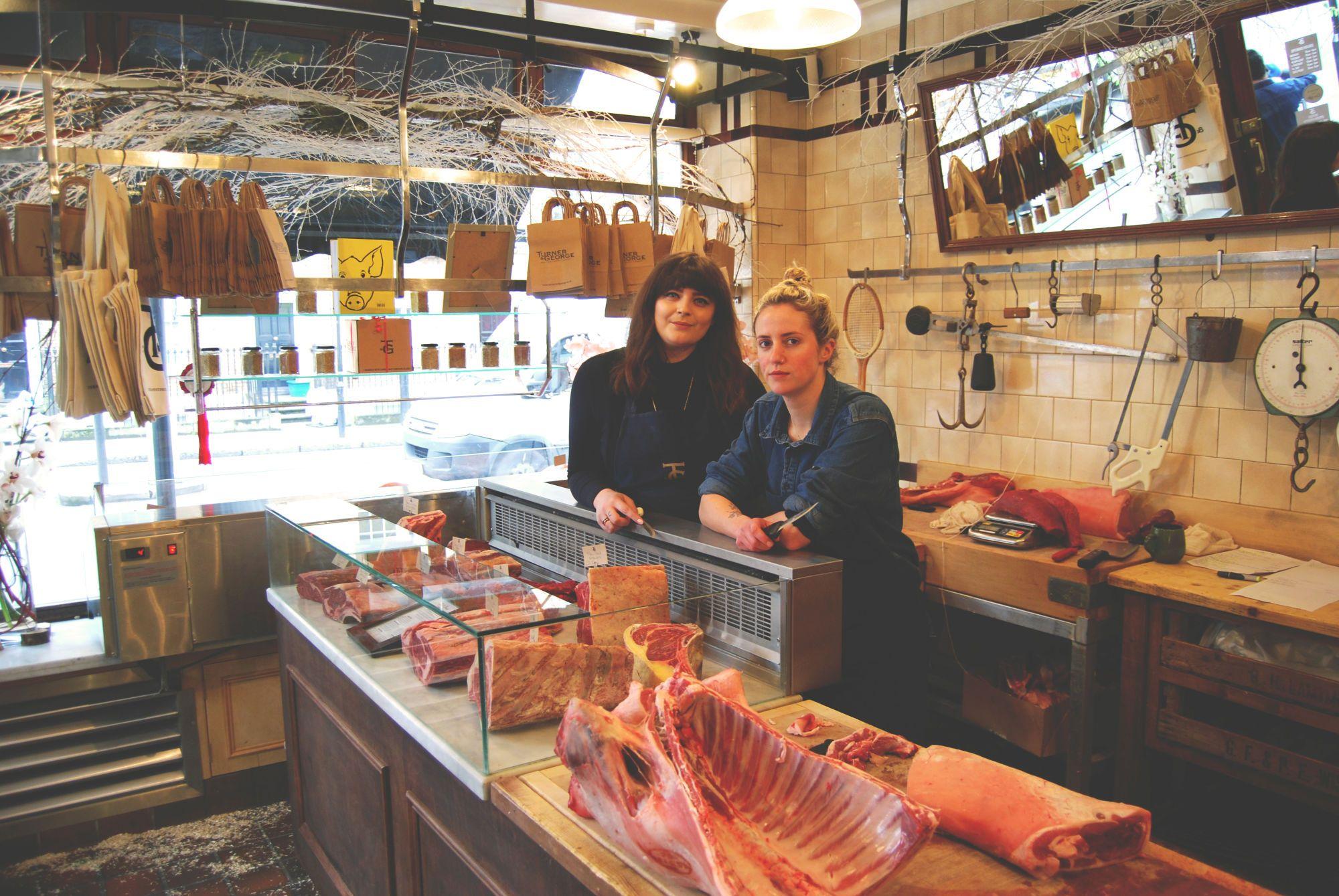 Top London Butchers   Notice Sawdust On The Floor   Old School