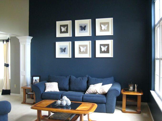 Wandfarben Wohnzimmer Blau DIY Home Ideas Pinterest