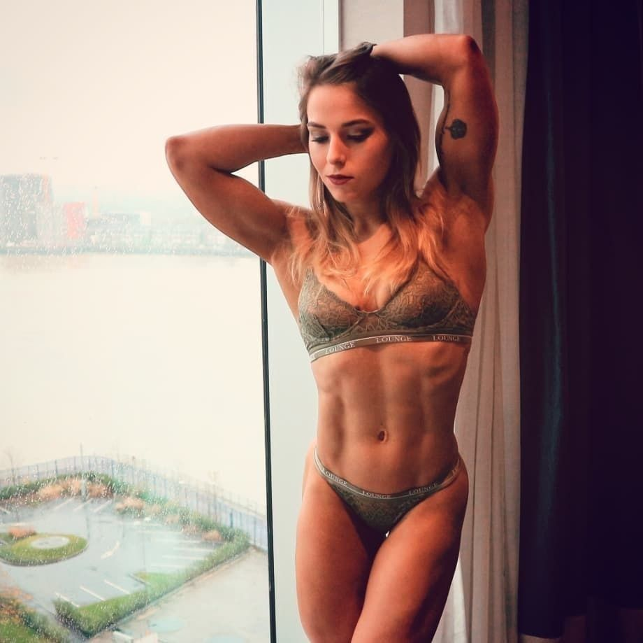 Girls with hard abs something is
