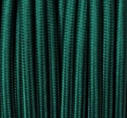 Farbige Elektrokabel textilkabel stoffkabel lenkabel dunkel grün 3 adrig rund 3x0