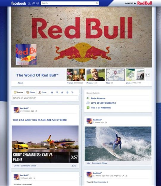 Sample Redbull Timeline Fan Page Design Commissioned By Mashable