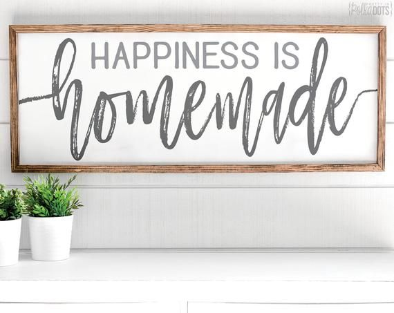 Happiness is Homemade | FREE SHIPPING | Farmhouse Wood Sign | 47x18 images