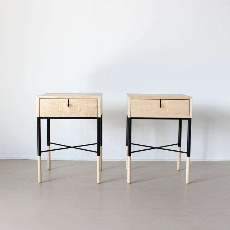 Phillip Maple Side Table And Nightstand Set With Images