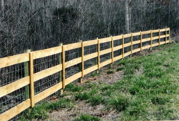 Estate Rail With Woven Wire Split Rail Fence Fence Design Rail Fence