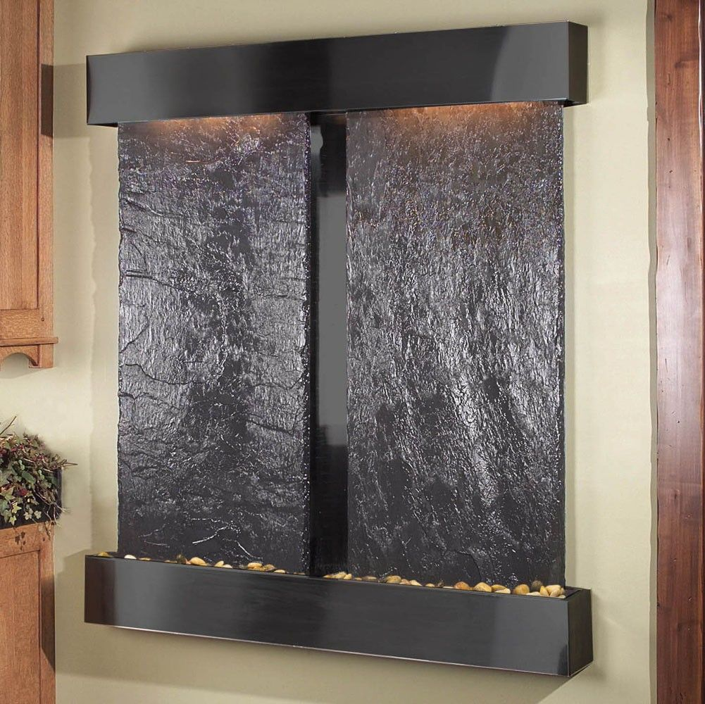 Charming Black Color Wood Modern Design Indoor Water Features