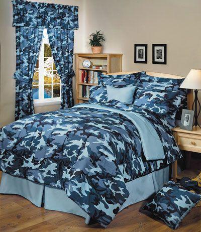 The Camo Shop Announces New Line Of Military Camo Bedding Blue