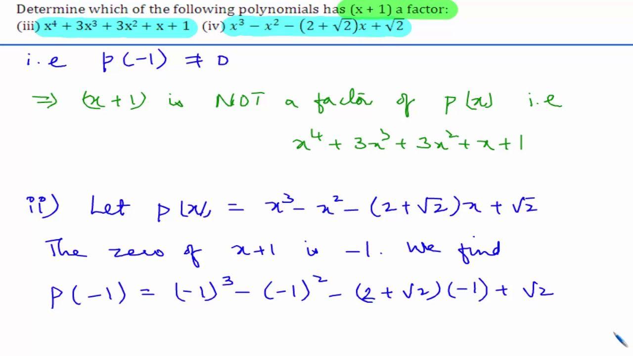 Cbse class 9 maths ncert solutions polynomials