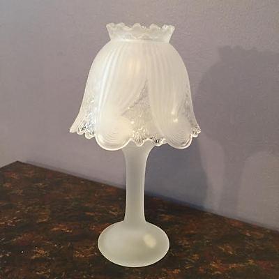 Partylite Frosted Clairmont Tea Light Votive Candle Lamp 16 00