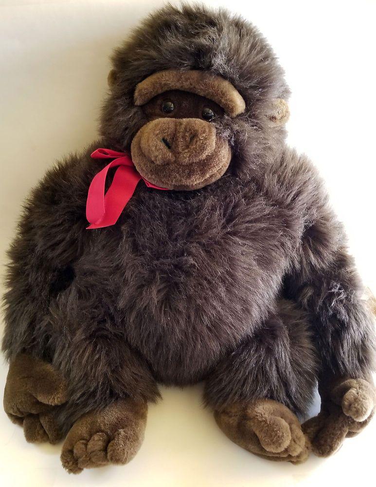 Rare Mervyns Floppy Friends Monkey Gorilla Stuffed Animal 20 Big
