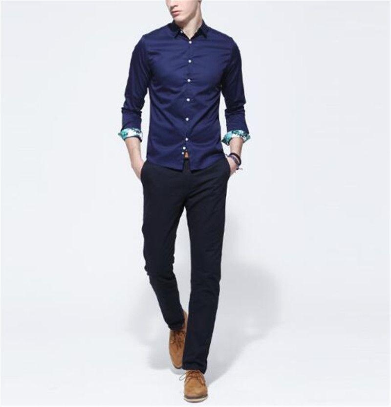 mens navy blue dress shirt - Dress Yp | Long Sleeve Dresses ...