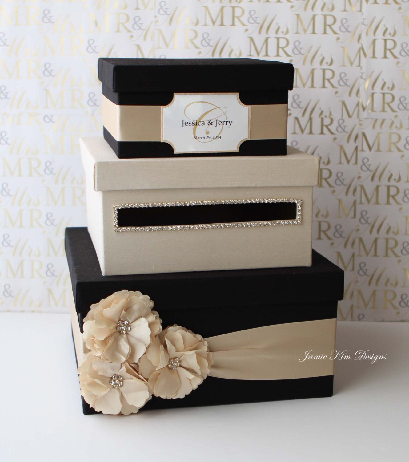 Wedding card box money box gift card holder choose your box