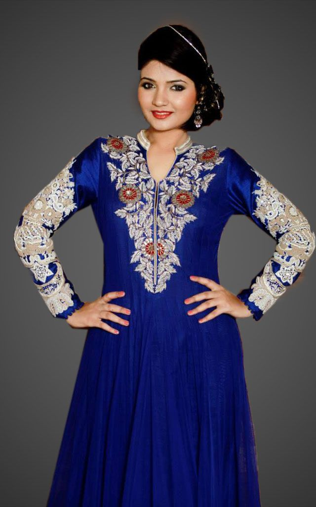 3821d07bd7 Net Anarkali Designer dress will work with Net Anarkali with zardozi  embroidery and borders.
