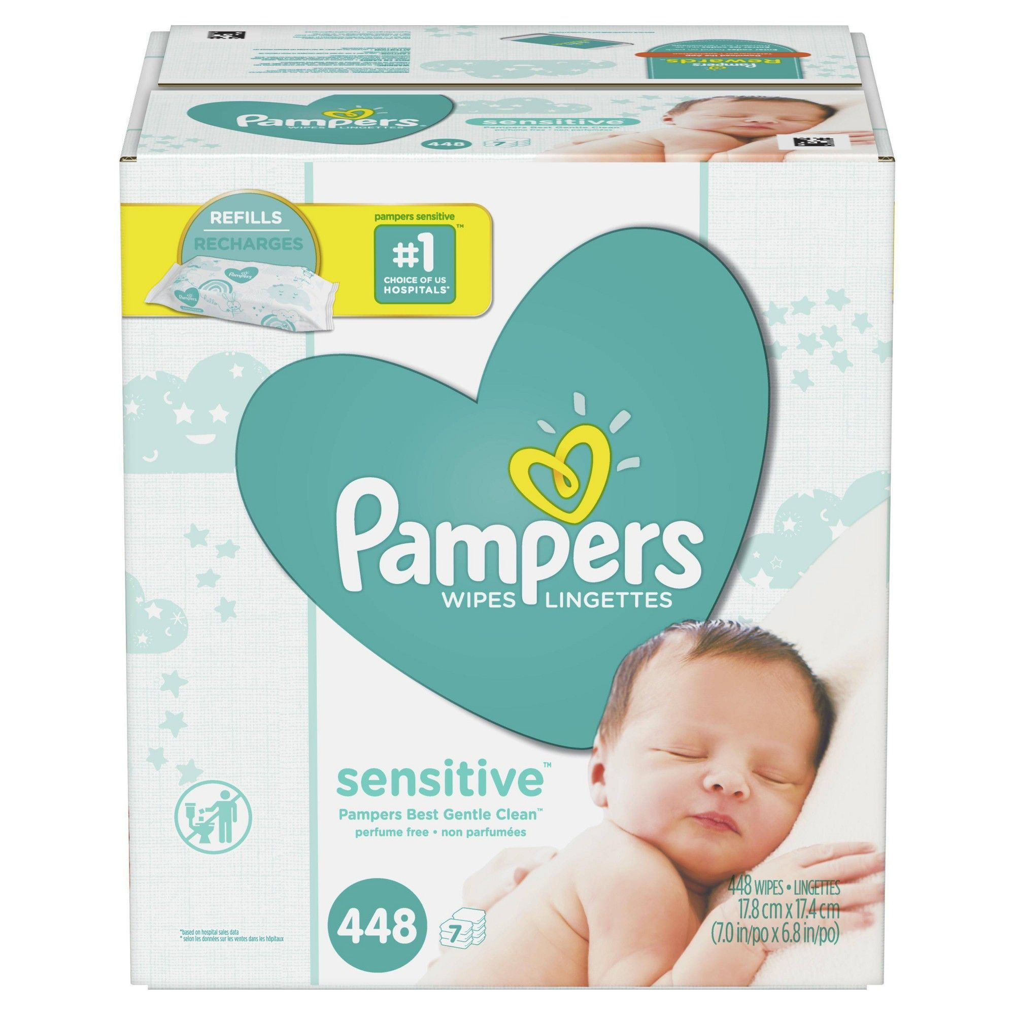 Size:5-66ct NEW Pampers Baby Pure Protection Disposable Diapers