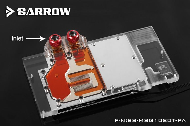 Barrow Bs Msg1080t Pa Gpu Water Cooling Block For Msi Gtx1080ti