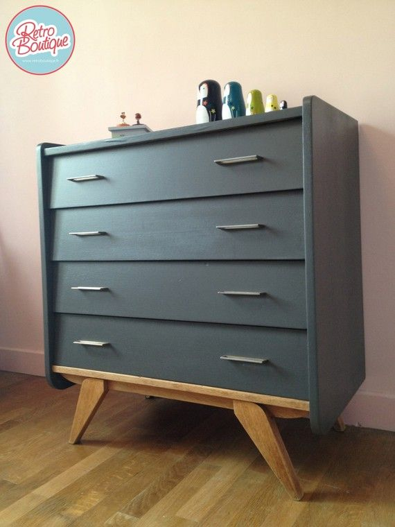 Commode vintage, année 60 Secound life \ relooking Pinterest