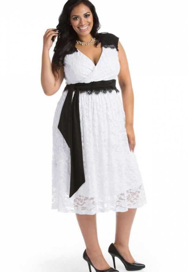 plus-size-dresses-for-wedding-guest. Black and white ... 809468ea0