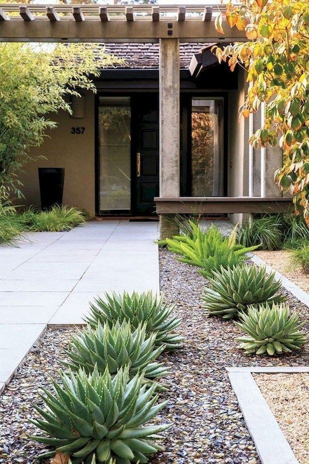 75 simple ideas for front yard landscaping with minimal ...