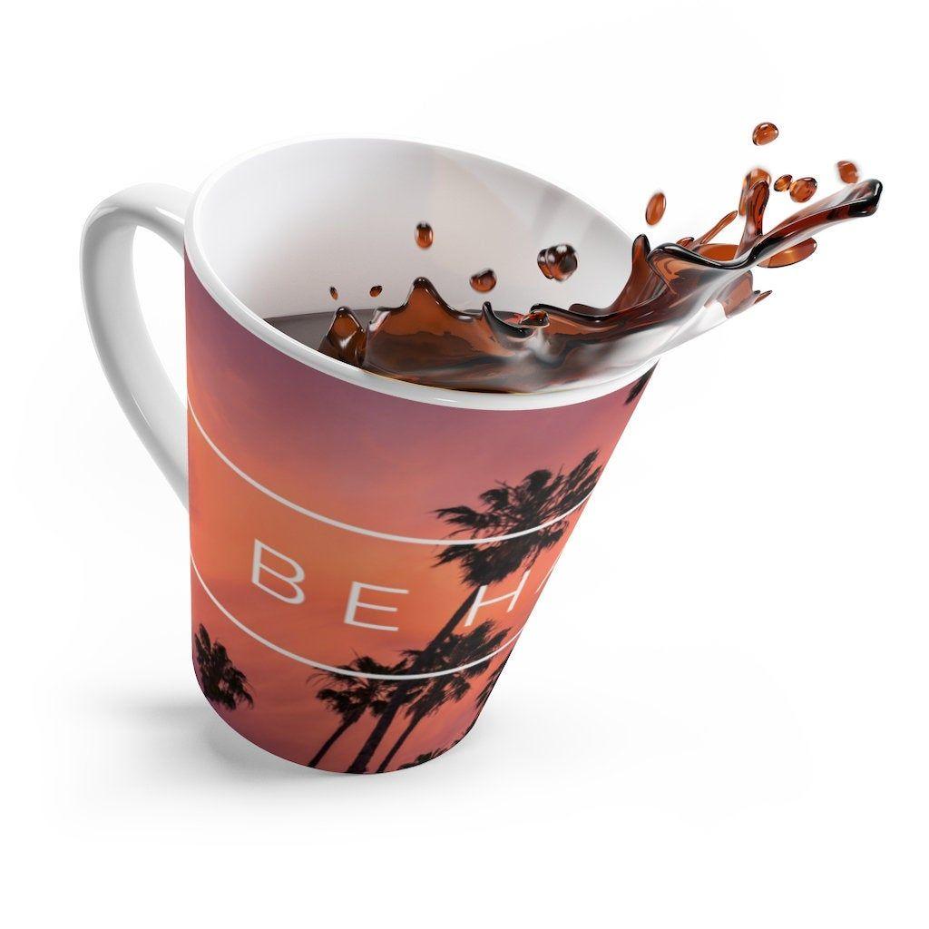 latte coffee mug   ceramic mugs   funny coffee mug   inspirational   be happy