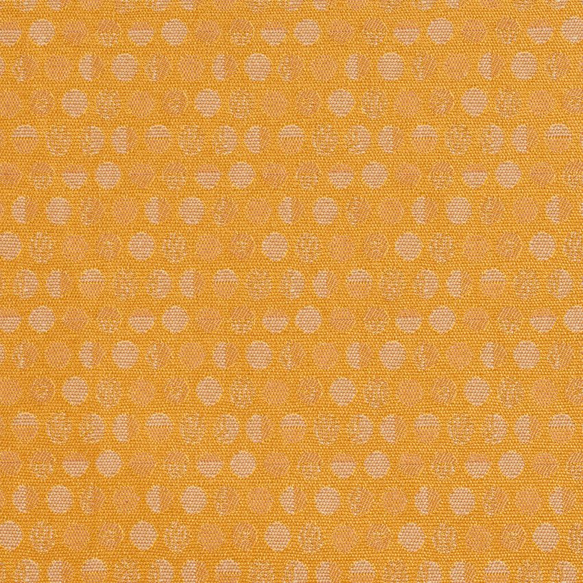The KC224 NUGGET upholstery fabric by KOVI Fabrics features Contemporary, Abstract or Geometric, Juvenile, Small Scale pattern and Gold or Yellow as its colors. It is a Damask or Jacquard type of upholstery fabric and it is made of 54% Polyester, 46% Olefin material. It is rated Exceeds 60,000 Double Rubs (heavy duty) which makes this upholstery fabric ideal for residential, commercial and hospitality upholstery projects.