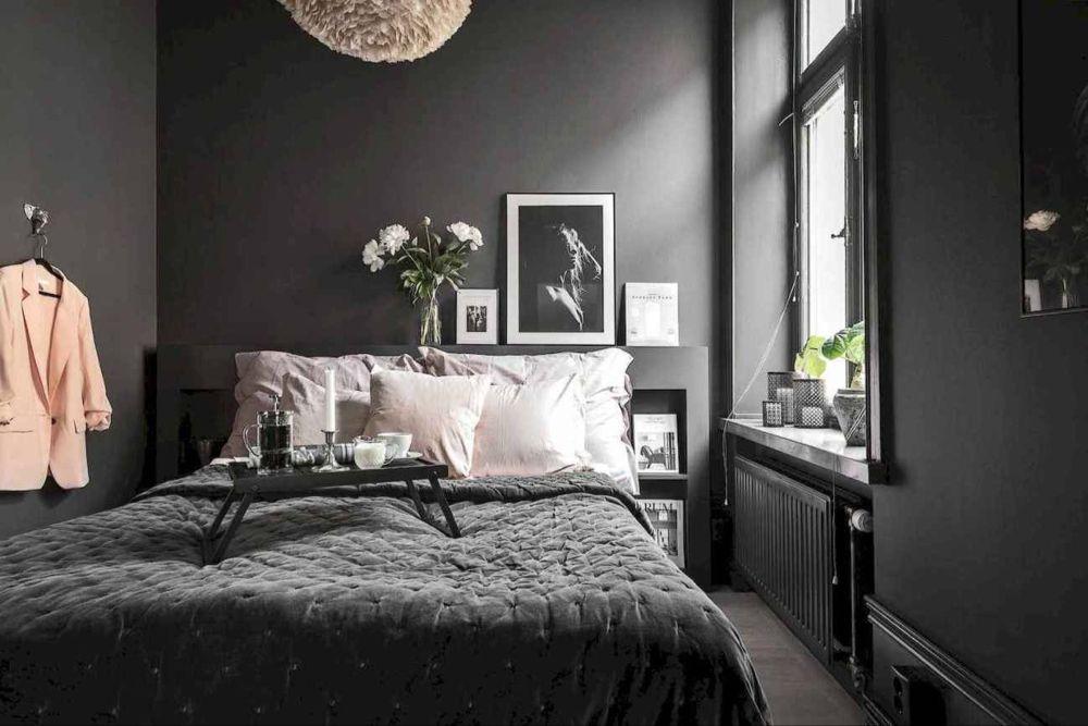 27 Gorgeous Dark Bedroom Decorating Ideas Grey Bedroom Decor Small Room Bedroom Bedroom Interior