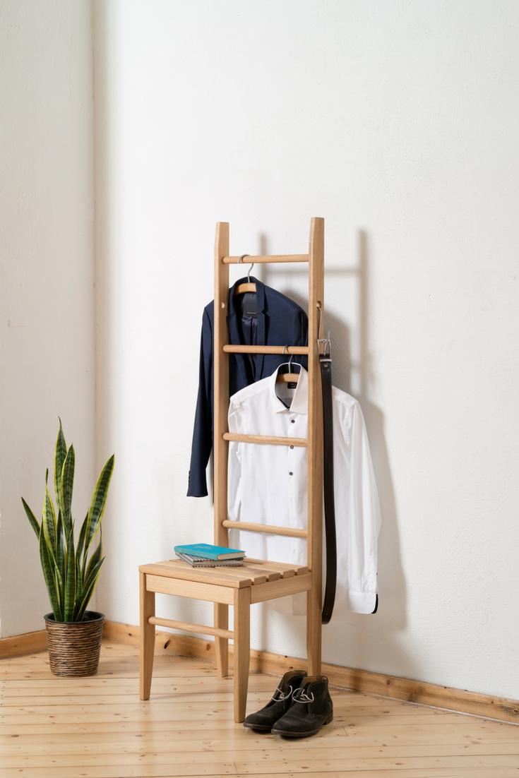 Der Kleiderstuhl - die perfekte Ablage und Garderobe für deine Klamotten im Schlafzimmer